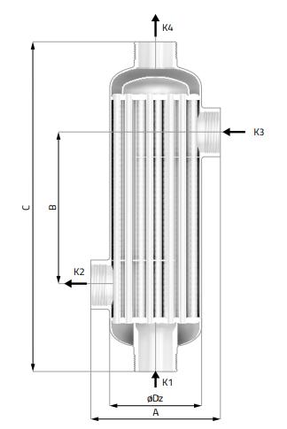 Кожухотрубный теплообменник Secespol REV TYPE REV250