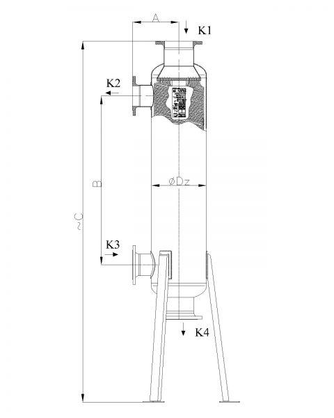 Кожухотрубный теплообменник Secespol JAD 15.177.10.75 MF.PRO.SS