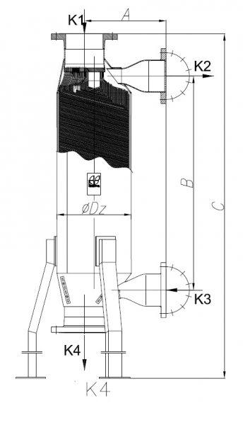 Кожухотрубный теплообменник Secespol JAD K 26.480 MF.STA.CS