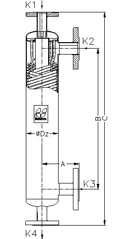 Кожухотрубный теплообменник Secespol JAD K 3.18 EE.STA.CS