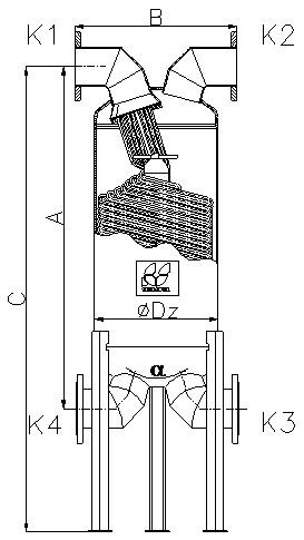 Кожухотрубный теплообменник Secespol JAD XK 17.217 FF.PRO.CS