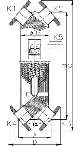 Кожухотрубный теплообменник Secespol JAD X 3.18.08.75 MF.PRO.WD