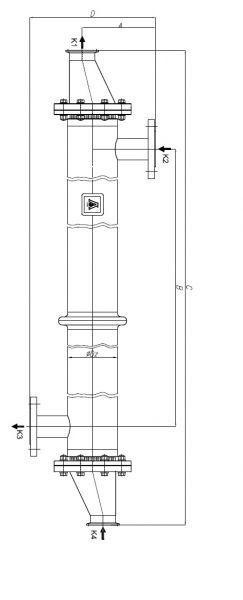 Кожухотрубный теплообменник Secespol P-250-140.08.H-1P.S