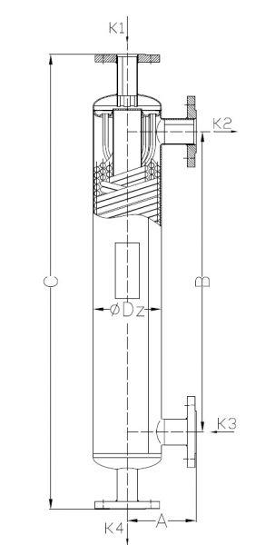 Кожухотрубный теплообменник Secespol S1 EE.STA.SS